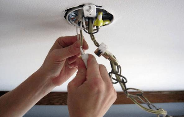 Установка и подключение люстр и светильников